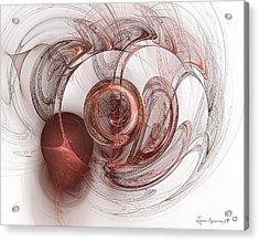 Be Still My Heart Acrylic Print by Leona Arsenault
