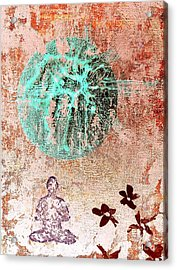 Acrylic Print featuring the painting Be The Buddha by Jacqueline McReynolds