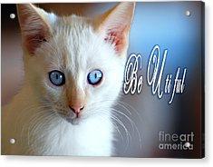 Be U Ti Ful Acrylic Print