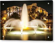 Bea Evenson Fountain At Night Acrylic Print