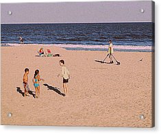 Beach Activities Acrylic Print