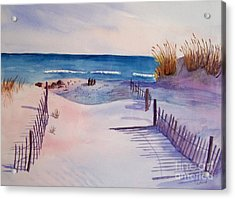 Beach Afternoon Acrylic Print by Christine Lathrop