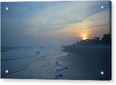 Beach And Sunset Acrylic Print