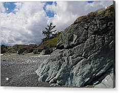 Beach At Fort Rodd Hill Acrylic Print