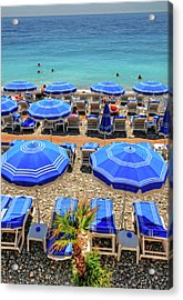 Beach At Nice France Acrylic Print