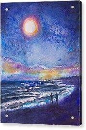 Beach At Night Acrylic Print