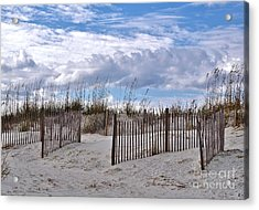 Acrylic Print featuring the photograph Beach At Pawleys Island by Kathy Baccari