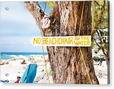 Beach At Rum Point Acrylic Print by Jo Ann Snover