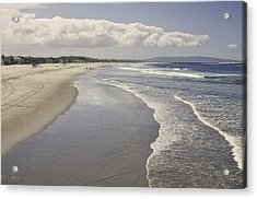 Beach At Santa Monica Acrylic Print