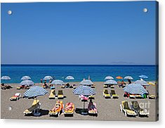 Beach At The City Of Rhodes Acrylic Print by George Atsametakis