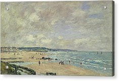 Beach At Trouville Acrylic Print by Eugene Louis Boudin