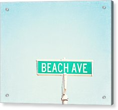 Beach Ave. Acrylic Print by Carolyn Cochrane