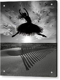 Beach Ballerina Acrylic Print