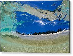 Beach Barrel Acrylic Print by Sean Davey