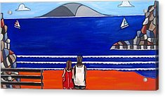 Beach Beach Day Three Acrylic Print by Sandra Marie Adams