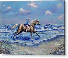 Beach Blonde Running Mates Acrylic Print
