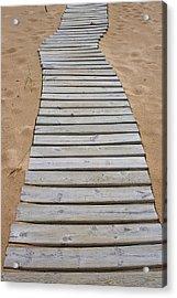Beach Boardwalk Acrylic Print by Randy Pollard
