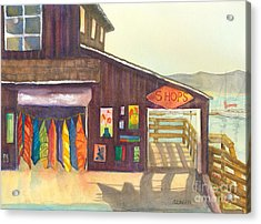 Acrylic Print featuring the painting Beach Boutique by Sandy Linden