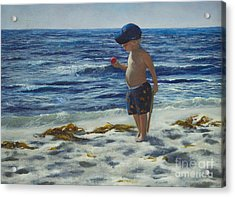 Acrylic Print featuring the painting Beach Boy by Jeanette French