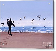 Beach Buddies Acrylic Print by Suzanne Schaefer