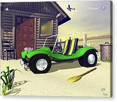 Acrylic Print featuring the digital art Beach Buggy by John Pangia