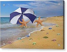 Beach Bums Acrylic Print by Betsy Knapp