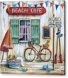 Beach Cafe Acrylic Print by Marilyn Dunlap