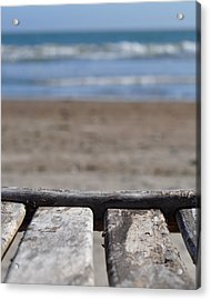 Beach Chair Acrylic Print by Stuart Hicks