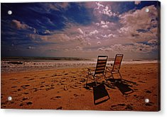 Acrylic Print featuring the photograph Beach Chairs by John Harding