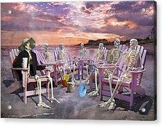 Beach Committee Acrylic Print by Betsy Knapp
