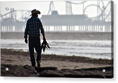 Beach Cowboy Acrylic Print
