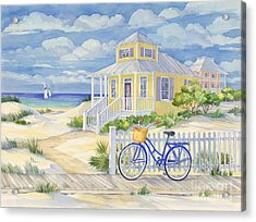 Beach Cruiser Acrylic Print by Paul Brent