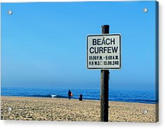 Beach Curfew Acrylic Print
