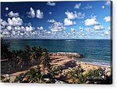 Beach Day At San Juan Acrylic Print by John Rizzuto