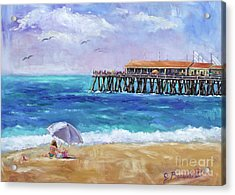Acrylic Print featuring the painting Beach Day by Jennifer Beaudet