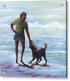 Beach Dog Acrylic Print