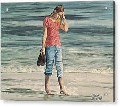 Beach Dreams Acrylic Print by Tina Stoffel
