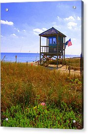 Acrylic Print featuring the photograph Beach Duty by Artists With Autism Inc