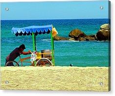 Beach Entrepreneur In San Jose Del Cabo Acrylic Print