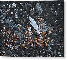Beach Floor. Flinders Vic Acrylic Print by Elena Kolotusha