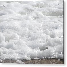 Acrylic Print featuring the photograph Beach Foam by Cathy Lindsey