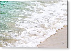 Beach Foam Acrylic Print by Shelby  Young