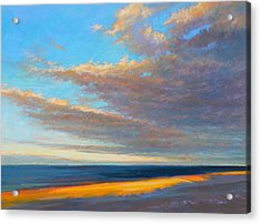 Beach Front Acrylic Print by Ed Chesnovitch