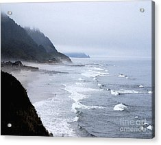 Beach Frontage In Monet Acrylic Print