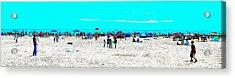 Beach Fun Frisbee Acrylic Print