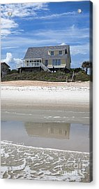 Beach House Acrylic Print by Kay Pickens