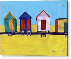 Beach Huts Acrylic Print by Bav Patel