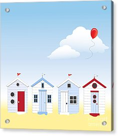 Beach Huts Acrylic Print by Jane Rix