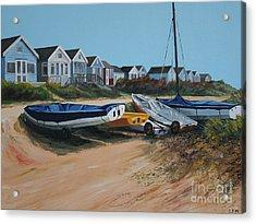 Beach Huts Acrylic Print by Linda Monk