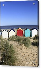 Southwold Beach Huts Uk Acrylic Print